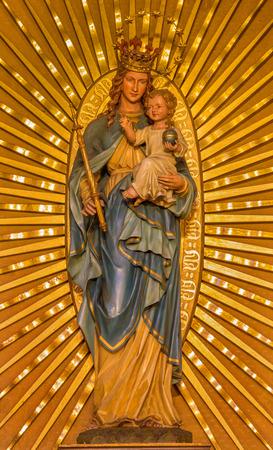PEZINOK, SLOVAKIA - JANUARY 30, 2013: Carved and polychrome Madonna from Pezino in  Lower church.