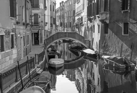 VENICE, ITALY - MARCH 13, 2014: Look to Rio dei Frari canal