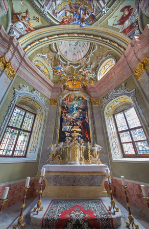 anton: SAINT ANTON, SLOVAKIA - FEBRUARY 26, 2014  Chapel of Saint Anton palace with the frescoes by Anton Schmidt from years 1750 - 1752