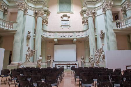 belle: BOLOGNA, ITALY - MARCH 17, 2014: Aula of Accademia di Belle Arti in Bologna Editorial
