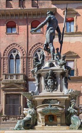 Bologna - Fontana di Nettuno or Neptune fountain on Piazza Maggiore square photo