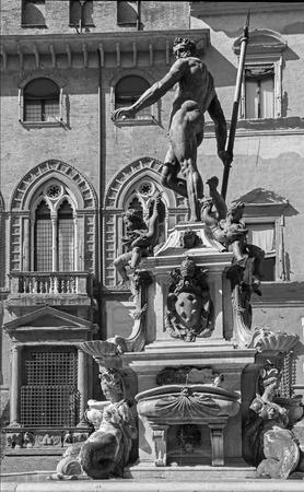 Bologna - Fontana di Nettuno or Neptune fountain on Piazza Maggiore square