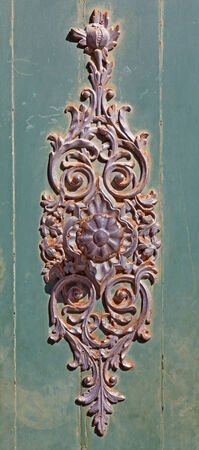 smithery: detail of gate from Venice