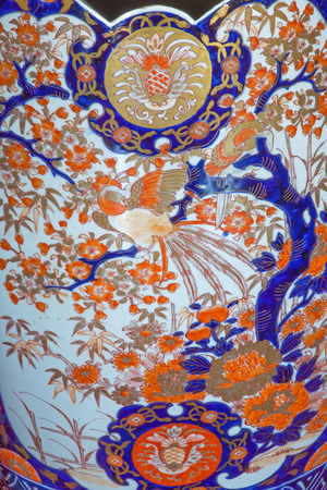 anton: SAINT ANTON, SLOVAKIA - FEBRUARY 26, 2014: Detail of big vase the Chinese saloon from 19. cent. in palace Saint Anton.