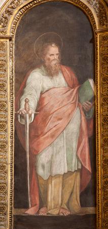 apostle paul: ROME - MARCH 21  Paint of Saint Paul the apostle from Santa Maria di Loreto church on March 21, 2012 in Rome  Editorial