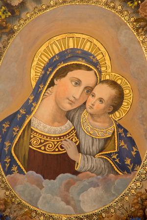 saint: MECHELEN, BELGIUM - JUNE 14, 2014: Madonna from st. Katharine church or Katharinakerk.