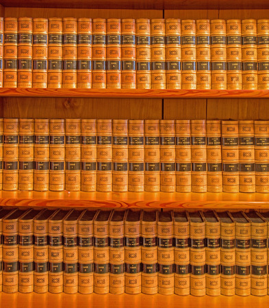 anton: SAINT ANTON, SLOVAKIA - FEBRUARY 26, 2014: France encyclopedia Revue des Deux mondes Library in palace Saint Anton form 19. cent. Stock Photo