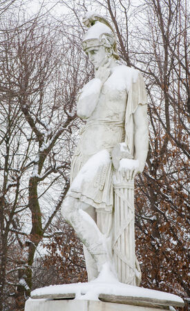 VIENNA, AUSTRIA - JANUARY 15, 2013: Quintus Fabius Maximus Verrucosus (280 BC – 203 BC) was a Roman politican and general. Gardens of Schonbrunn palace. Statues was generally made between 1773 - 1780.
