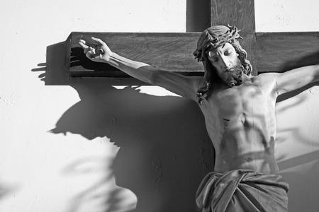 christendom: Jeusus on the cross in vestibule of church in Vienna