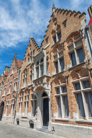 sint: Bruges - typicaly brick house from Sint Annarei street. Stock Photo
