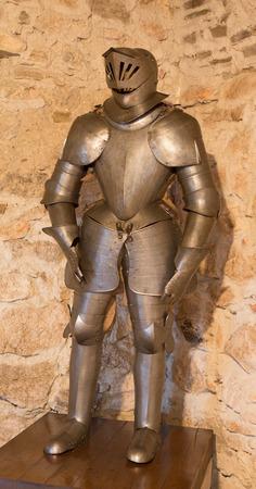 arma: SPISSKY CASTLE, SLOVAKIA - JULY 19, 2014: The medielval armour.