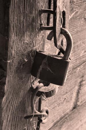 sawed: sawed old lock