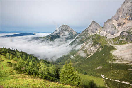 nant: Alps under the south face of Dachstein massif - Austria Stock Photo