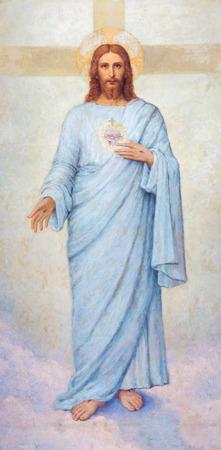 パドヴァ, イタリア - 2014 年 9 月 8 日: 20 から大聖堂のサンタ・マリア ・ アッスンタ教会 (ドゥオーモ) r. メガムラートによってイエス ・ キリスト塗
