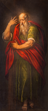 PADUA, ITALY - SEPTEMBER 9, 2014: The paint of st. Paul the apostle in church Santa Maria dei Servi.