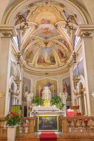 daniele: PADUA, ITALY - SEPTEMBER 10, 2014: The Presbytery of church Chiesa di San Daniele.