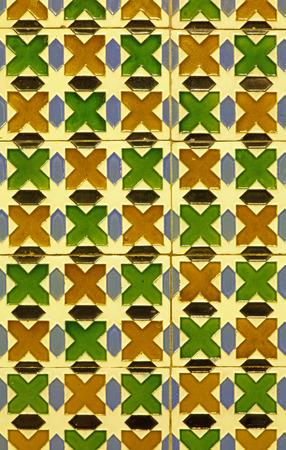 mudejar: Spain - wall tiling in Mudejar style Stock Photo