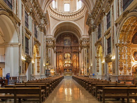 nave: MADRID - MARCH 10: Nave of baroque church San Isidoro on March 10, 2013 in Madrid. Editorial