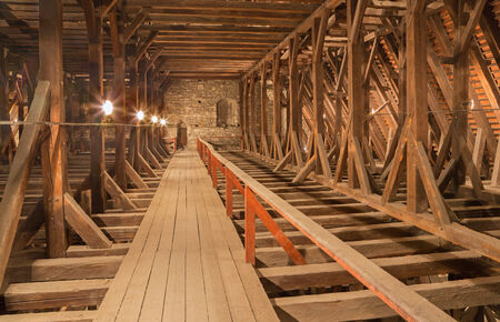 rafters: Bratislava - The framework form st. Martins cathedral