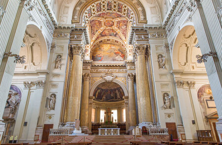 nave: BOLOGNA, ITALY - MARCH 15, 2014: Presbytery and nave of Dom or Saint Peters baroque church. Editorial