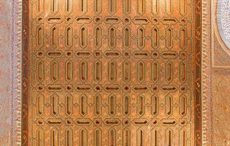 mudejar: SEVILLE, SPAIN - OCTOBER 28, 2014: The one of mudejar ceilings in Alcazar of Seville.