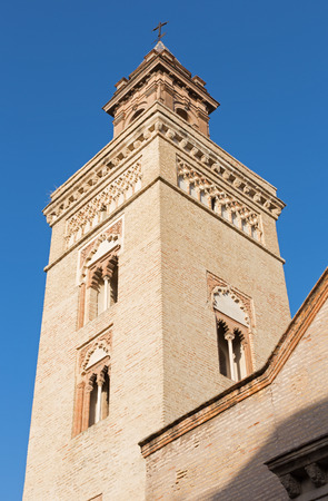 mudejar: Seville - The tower of San Marcos church in the mudejar style.