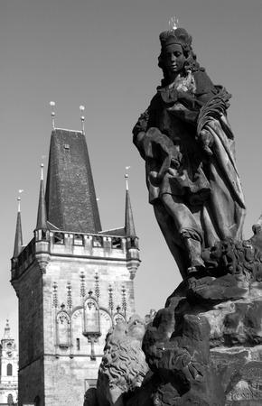 christendom: Prague  statue from Charles bridge