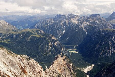dolomite: valley in dolomite  look from mt. cristalo