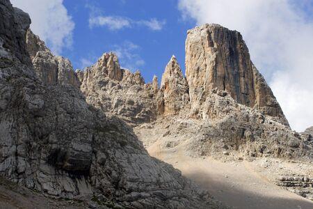 massif: tower in civetta massif Stock Photo