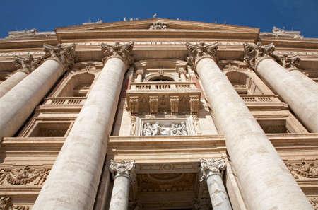 st peter s basilica: Rome  facade of st. Peter s basilica
