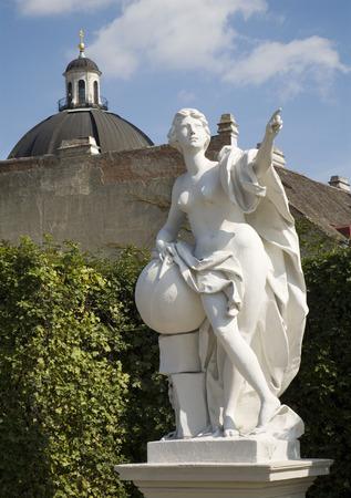 statuary garden: Vienna  statue in garden of Belvedere palace