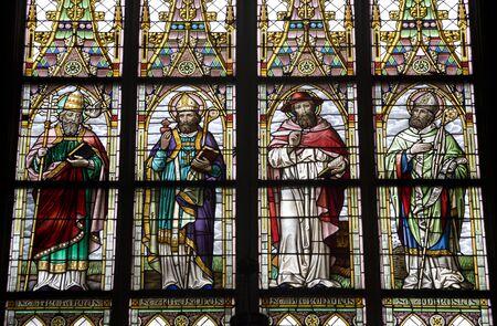 windowpane: Vienna  holy from windowpane  st. Elizabeth church