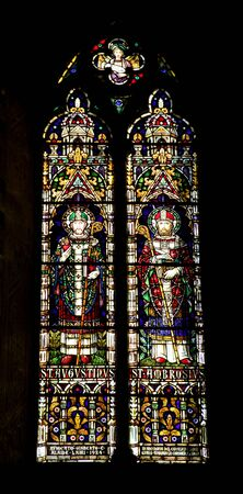 windowpane: Pisa  windowpane of church  Chiesa e convento di San Torpe Stock Photo