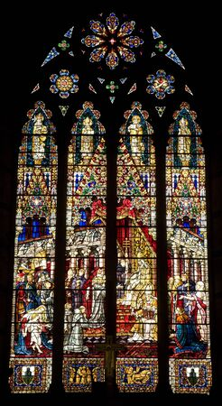 christendom: Siena windowpane of st. Francis church