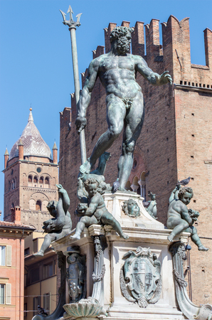 statuary: Bologna - Fontana di Nettuno or Neptune fountain on Piazza Maggiore square