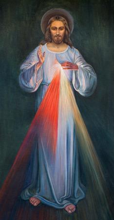 Gerusalemme, Israele - 4 marzo 2015: La vernice moderno di Gesù nella Chiesa armena di Nostra Signora dello spasmo da autore ignoto. Archivio Fotografico - 38897017