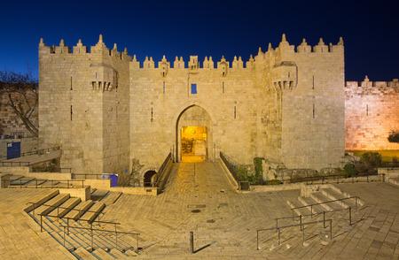 damascus: Jerusalem - Damascus gate at dusk