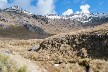 trecking: Peru - Look from Cordillera Blanca in the Andes from the trek of santa Cruz.
