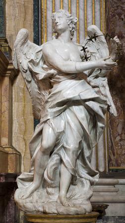 ignacio: ROME, ITALY - MARCH 23, 2012: The baroque statue of angel from San Ignacio church (1649) by Pietro Bracci..