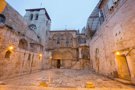 sepulchre: Jerusalem - Church of the Holy Sepulchre at dusk