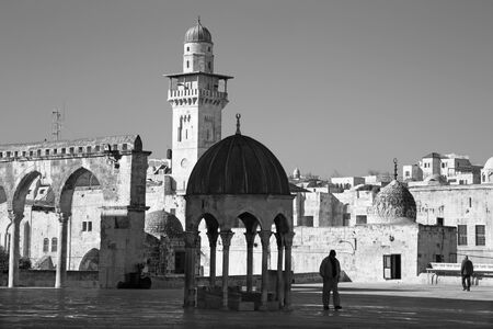 temple mount: JERUSALEM ISRAEL  MARCH 5 2015: The look from the Temple Mount to west in morning light.
