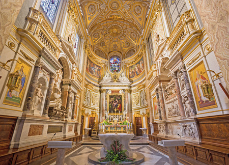 anima: ROME ITALY  MARCH 27 2015: The sanctuary in church Santa Maria dell Anima. Editorial