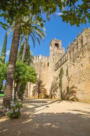 alcazar: Cordoba - The walls of palace Alcazar de los Reyes Cristianos. Editorial
