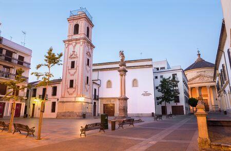CORDOBA, SPAIN - MAY 28, 2015: Iglesia de Santo Domingo on the Plaza de la Compania square. Editorial