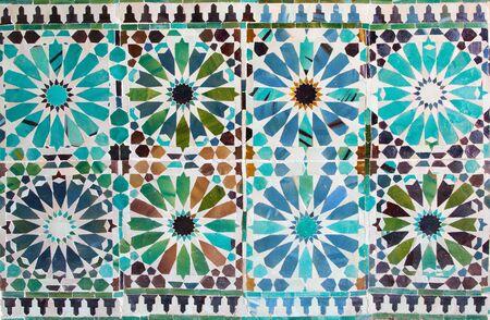 mudejar: CORDOBA, SPAIN - MAY 26, 2015: The detail of  tiling in mudejar Capilla San Bartolome chapel. Editorial