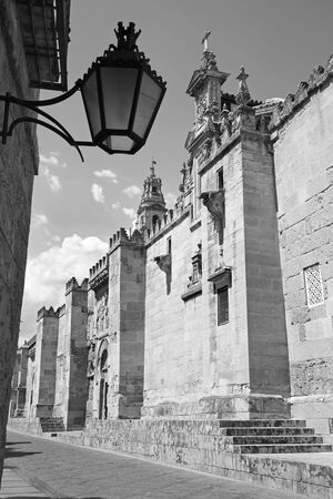 cordoba: Cordoba - The Cathedral walls from west Stock Photo