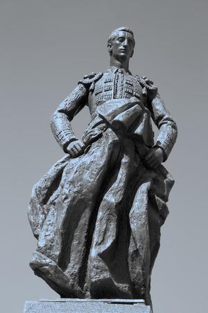 conde: Cordoba - The memorial to Manolete on Plaza del Conde de Priego square by sculptors Luis Moya and Manuel Alvarez Laviada (1956).