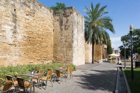 cordoba: Cordoba - The medieval walls of the town in evening light Editorial