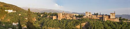 pal: Granada - The panorama of Alhambra palace and fortness complex.