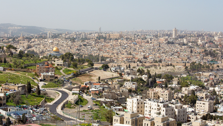 outlook: Jerusalem - Outlook from Mount of Olives to old city